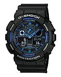 Casio G-SHOCK Homme Analogique-Digital Quartz Montre avec Bracelet en Résine GA-100-1A2ER