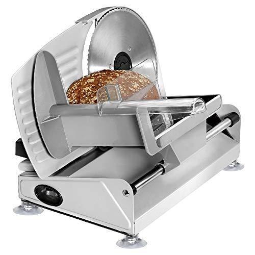 Affettatrice elettrica per salsicce, in acciaio inox, per pane, pieghevole, spessore di taglio 0  15 mm, taglio ondulato, supporto fisso, coltello elettrico.
