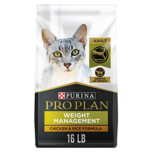 Purina Pro Plan Weight Control High Protein Dry Cat Food, FOCUS Weight Management Chicken & Rice Formula - 16 lb. Bag