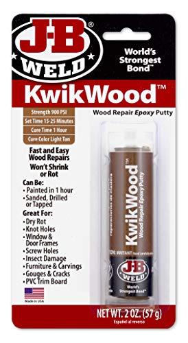 J-B Weld 8257 KwikWood Wood Repair Epoxy Putty Stick- 3.5 inch,...