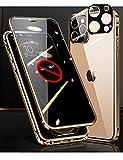 iPhone 12 Pro Max ケース 両面 ガラス 覗き見防止 360全面保護 OURJOY アルミ バンパー アイ……