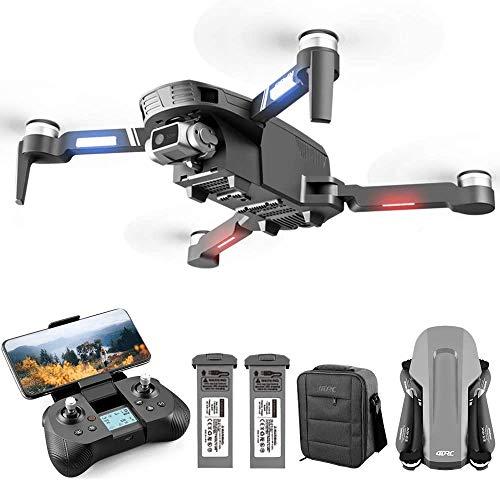 4DRC F4 Drone con Telecamera 4K HD GPS Pieghevole per Adulti 60 Minuti di Volo 1000 Metri di pPrtata FPV Controllo Gestuale 5G GHz WiFi FPV Brushless Motor GPS Follow Me (Due Batterie e Borsa)