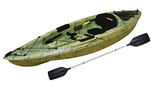 SUN Dolphin Journey 10 SS Sit-On Fishing Holiday Vacation River Lake Angler Kayak, Paddle Included!...