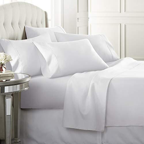 Danjor LinensQueenSize Bed Sheets Set - 1800 Series6 Piece Bedding Sheet & Pillowcases Se…