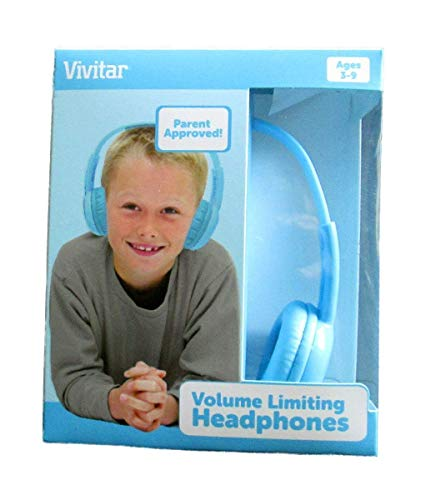 Vivitar V12009-BLU Kids Safe Volume Controlled Headphones, Blue