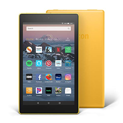 Fire HD 8 Tablet (8' HD Display, 16 GB) - Yellow (Previous Generation - 8th)