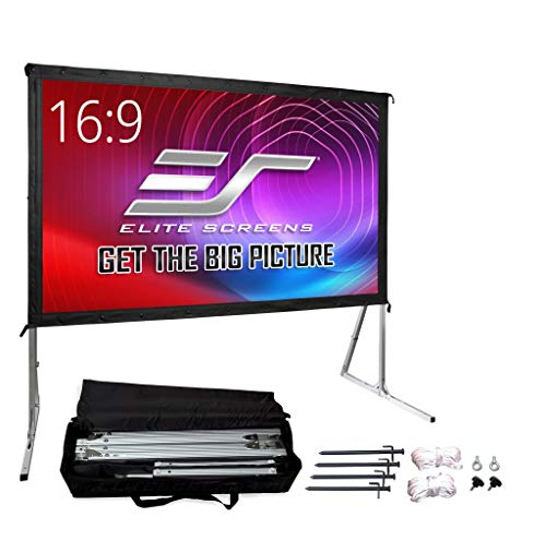 """Elite Screens Yard Master 2, 120 inch Outdoor Projector Screen with Stand 16:9, 8K 4K Ultra HD 3D Fast Folding Portable Movie Theater Cinema 120"""" Indoor Foldable Easy Snap Projection Screen, OMS120H2"""