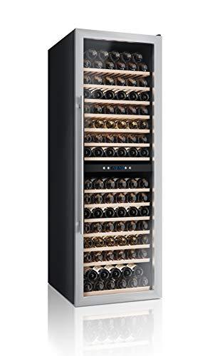 Cantinetta Vino Professionale Datron, Climatizzata, Adatta per la casa, con Doppia Temperatura e Compressore, Libera Installazione