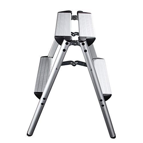 XING ZI Step stool X-L-H Leiter, Aluminium Klappleiter Hocker, Startseite Doppelseitige Erweiterung Fotoleiter (größe : 2 Steps)