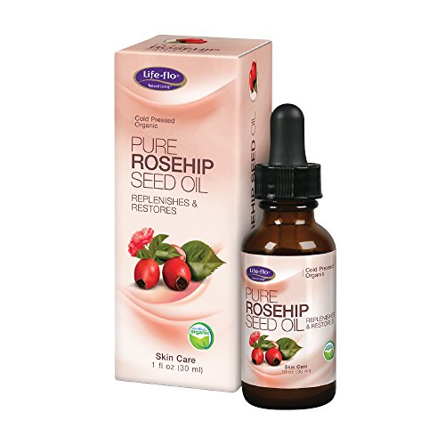 Life-Flo Pure Rosehip Seed Oil | Organic & Cold Pressed | Authentic Rose Hip Oil for Face & Skin Restoration | Dry & Non-Greasy | 1 Ounce