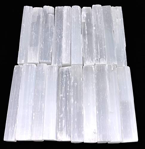 Selenite Crystal Wands | 20 Pack Selenite Sticks for...