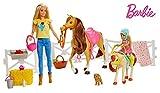 Barbie Muñecas Barbie y Chelsea con caballos y accesorios, regalo para niñas y niños 3-9 años (Mattel FXH15)