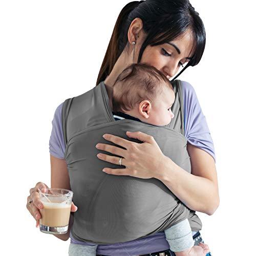 Lilly and Ben® Fascia porta Bebè Cotone BIOLOGICO - Fascia Elastica Porta Bebè - Baby Wrap - Fasce per Neonati