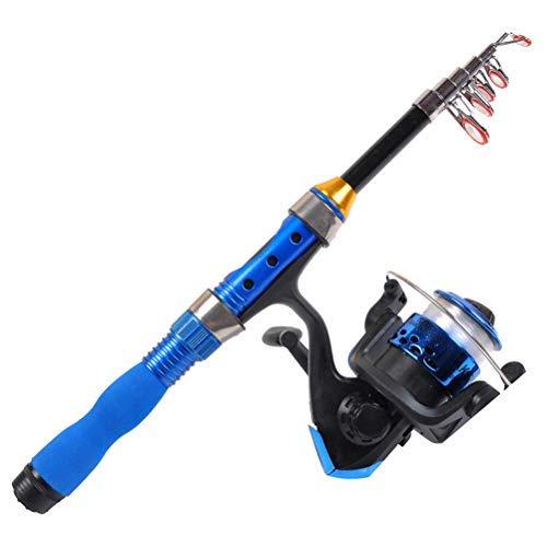 Suszian Canna da Pesca Portatile, Mini Canna da Pesca Super Dura 1-2,3 Metri Attrezzatura da Pesca Attrezzatura Pratica Strumento