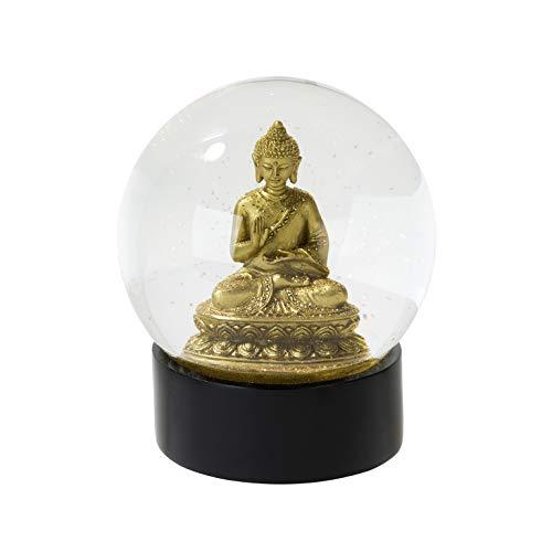 Talking Tables Schneekugel   Buddha Geschenk   Glitzer Schneekugel   Buddha