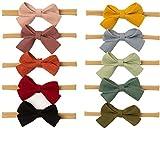 Freemuran Baby Girl Headbands and Bows, Newborn Infant Toddler Kids Nylon Hairbands Hair Accessories, B-bow, Uniform size