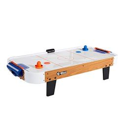 Rally and Roar Electronic Tabletop Air Hockey Game, Includes 2 Pucks, 2 Pushers, Built In Scoreboard