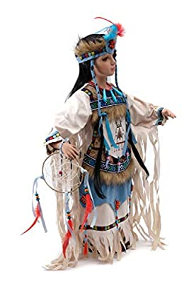 Blue Spirit is made of fine porcelain and fine fabric materials. Standing stand included. Limited edition indian doll, only 2500 originally made. Due to different monitors/calibrations colors may vary slighty from the actual product. ** This is not a...