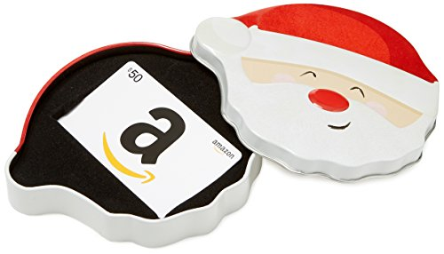 Amazon.com $50 Gift Card in a Santa Smile Tin