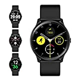 Evershop Smart Watch with Compass Heart Rate Monitor for Men Women, IP68 Waterproof Fitness Tracker with Sleep Tracker Pedometer Compatible for Android Phones&iPhone