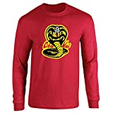Cobra Kai Costume The Karate Kid Retro Martial Art Red 3XL Full Long Sleeve Tee T-Shirt