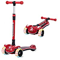 Safety First - En 71 for Safety Certified to make the riding time safest for your child. It can be used by children of 3-10 years & has weight capacity till 100 Kgs of the Deck. Its so strong and safe that even Parents can ride INNOVATIVE DESIGN WITH...