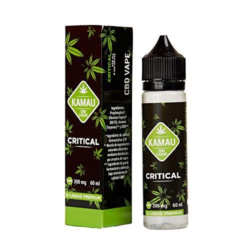 Kamau E-liquido de Extracción con Cbd para Vaper con Terpenos Naturales de Citrical Efecto Terapéutico | 99,8% de Pureza de Cbd sin Nicotina - 60 ml para Recarga de Cigarrillo Electronico
