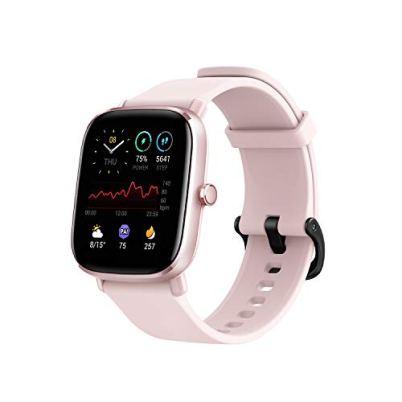 Amazfit GTS 2 Mini Fitness Smart Watch, Super-Light Thin Design, 14-Days Battery Life, 70+ Sports Modes, SpO2 Level Measurement, Heart Rate, Sleep, Stress Level Monitoring (Flamingo Pink)