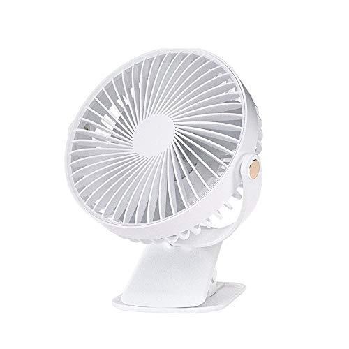 WENDUPPV Clip Ventilatore 360 Gradi a Tutto Tondo Regolabile USB Charging Fan Facile Piccolo...