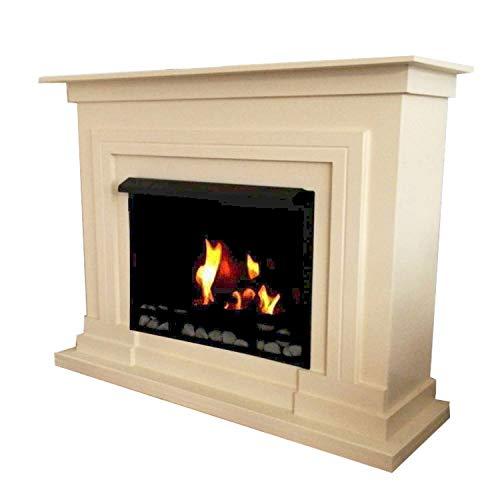 Bio Ethanol Fire Place Firegel Fireplace Model Berlin Deluxe Cream