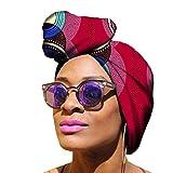 Yijinstyle Mujer tnica Pauelo en La Cabeza Bufanda Africano Headwrap de Elasticidad para Amigable...