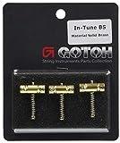 GOTOH テレキャスター用ブリッジサドル、3個セット、ブラス(PSS-ITB) In-TuneBS