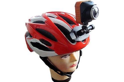 SportXtreme Supporto Casco per Tutte le Action Cam, Fotocamere, Videocamere con Filettatura a Vite Fotografica da 1/4 Pollice e per videocamere Serie GoGoal, JVC ADIXXION, Liquid Image EGO, Nero