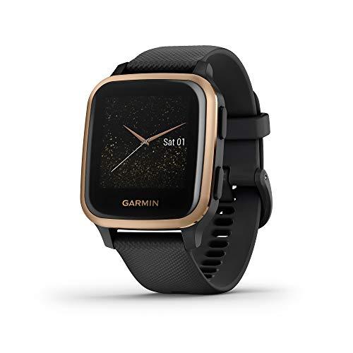 Garmin Venu Sq Music Amazon Exclusive, Smartwatch GPS Sport con Lettore Musicale, Monitoraggio della Salute e Garmin Pay, Nero (Nero/Oro Rosa)