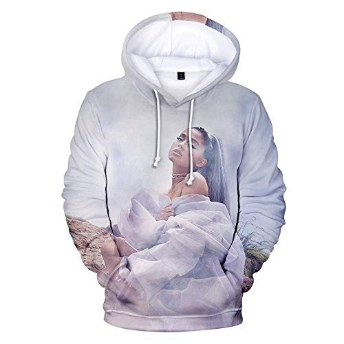 NUANNUAN 3D Print Ariana Grande Sweatshirt Girls Sportswear Sweet Top Pullover Hoodie Sweet Singer Girls Long Lady Casual Loose XXS-4XL