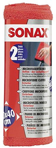 SONAX MicrofaserTücher Außen - der Lackpflegeprofi (2 Stück) hochwertig und flauschig, zum...