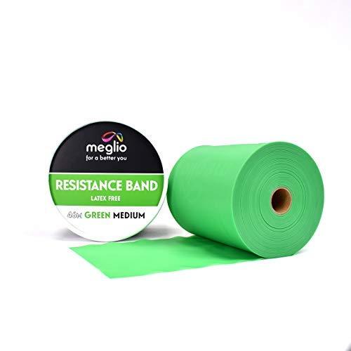 MEGLIO Fascia di Resistenza Rullo di 46 Metri, Rotolo di Banda Elastica Senza Lattice per Fitness,...