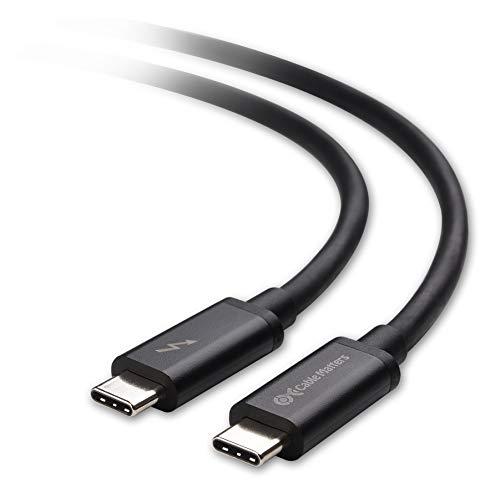 Cable Matters Certificato Cavo Thunderbolt 3 USB C (Cavo USB C Thunderbolt 3) Colore Nero 2m Supportando Ricarica 100W