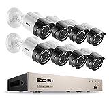 ZOSI 8CH 1080P H.265+ Kit Vidéo Surveillance DVR avec 8pcs Caméra...