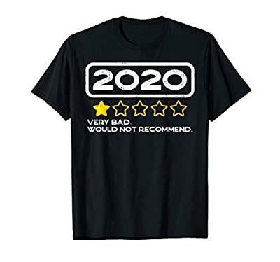 Grab this funny 2020 One Star Rating Would Not Recommend T-Shirt for a friend who's had enough of quarantine, social distancing and lockdown! It's a perfect gag gift & present for Birthday, Halloween, Christmas, College Parties & Summer Vacation 2020...