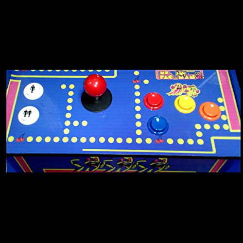 Doc-and-Pies-Arcade-Factory-Classic-Home-Arcade-Machine-Tabletop-and-Bartop-60-Retro-Games-Full-Size-LCD-Screen-Buttons-and-Joystick-Blue