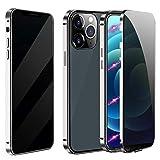 MESTRIEV iPhone 12/ iPhone 12 Pro ケース 覗き見防止 磁気吸着 両面ガラス 対応 360°全面保……
