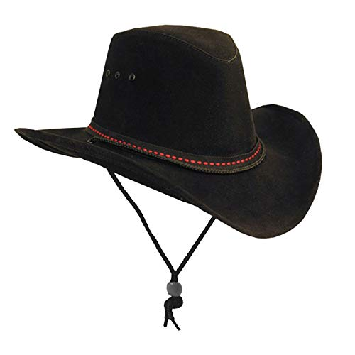 Kakadu Damen Herren Cowboy Western Sommerhut aus Mikrofaser mit formbarer Krempe