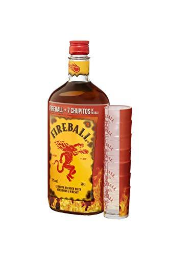 Fireball Cinnamon Whisky Con 7 Chupitos De Regalo -700 ml