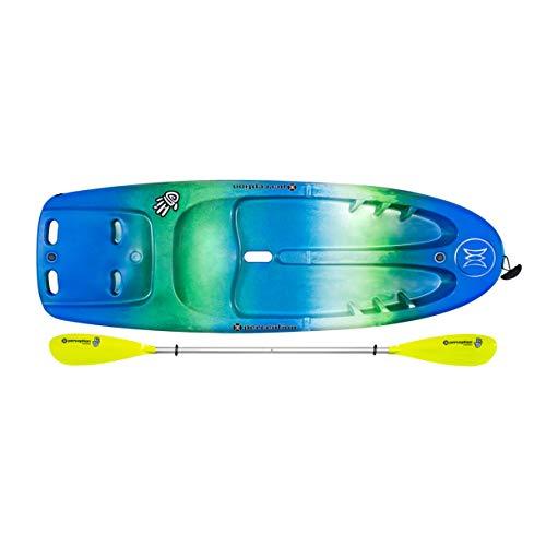 "Perception Kayaks Hi Five   Sit on Top Kids Kayak for Kids up to 120 Lbs.   Youth Kayak with Paddle   6' 6""   Déjà vu"