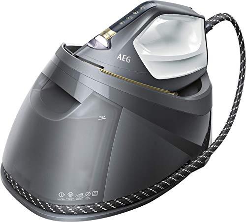 AEG ST8-1-8EGM Dampfbügelstation / Touchscreen / 4 Bügelprogramme mit Outdoor-Technologie / dauerhaftes Licht / 7,5 bar Dampfdruck / 460 g Dampfstoß / kratzfeste Bügelsohle / 1,2 l Wassertank / grau