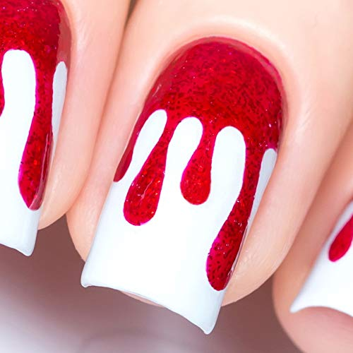 Whats Up Nails - Dripping Vinyl Stencils for Nail Art Design (2 Sheets, 72 Stencils Total)