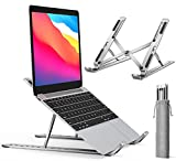 ivoler Soporte Porttil Mesa 10 ngulos Ajustables, Aleacin de Aluminio, Soporte Ordenador Portatil Ventilado Plegable para 10-15.6Macbook, DELL, Chrome, Otros Porttiles y Tableta - Plata