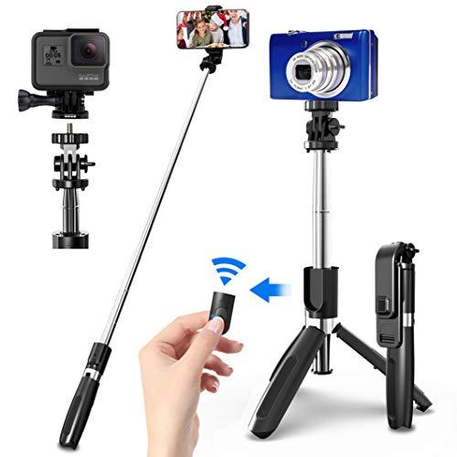 SYOSIN Palo Selfie Trípode con Control Remoto Bluetooth, 4 en 1...
