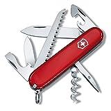 Victorinox Camper Couteau de Poche Suisse, Léger, Multitool, 13 Fonctions, Lame, Ouvre Boite, Tire Bouchon, Rouge